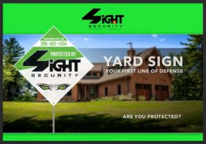 4Sight Security yard sign outside of home