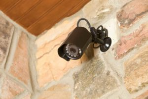 black exterior security camera