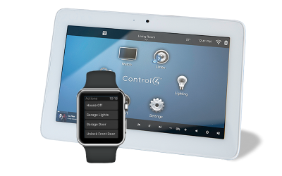 mobile control for security system