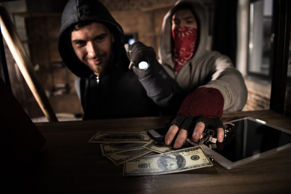 Home Burglaries - thieves stealing money and valuables