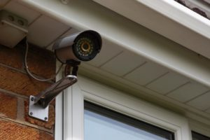 external security camera on home